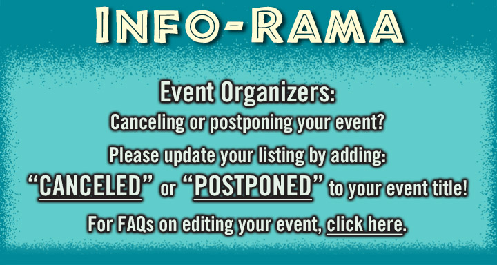 INFO-RAMA Event organizers Covid warning. Canceling or postponing events on CarShowSafari.com please update title