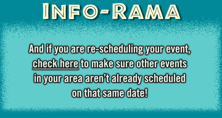 INFO-RAMA Event organizers Covid warning. Rescheduling events on CarShowSafari.com please check dates for other events