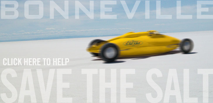 See how you can help save the Bonneville Salt Flats. Help save the salt! Car shows and motorsports events