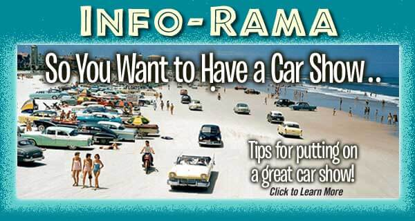 So You Want to Have a Car Show. Car show event organizing tips and information