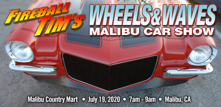 Wheels & Waves Malibu Car Show, is a car event that occurs every third Sunday