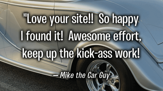 Mike the Car Guy loves CarShowSafari.com
