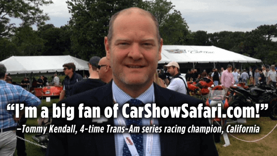 Tommy Kendal, Trans Am racing champion, loves CarShowSafari.com. Car Shows and motorsport events.