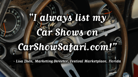 Lisa Zhen loves CarShowSafari.com. Car Shows and motorsport events.