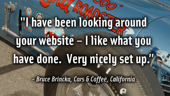 Bruce Brincka loves CarShowSafari.com. Car Shows and motorsport events.