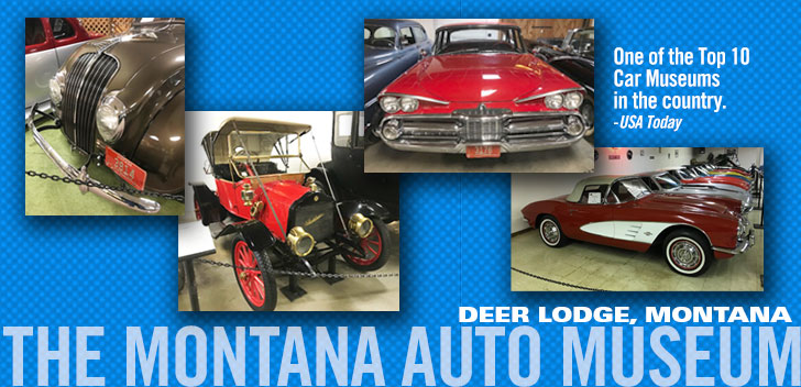 Montana Auto Museum - One of USE Todays top 10 auto museums in the USA for car shows and exhibits