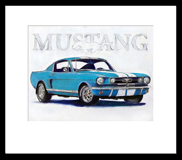 Mustang-Painting-Matted