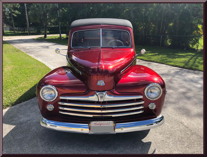 1948FordWoodieRedTanDO-grill